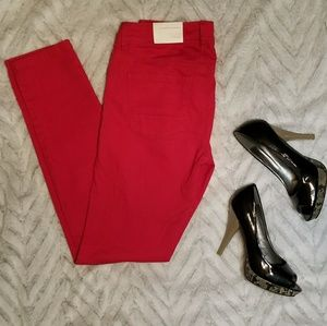 ❤NWT LC LAUREN CONRAD RED SKINNY JEANS❤